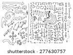 vector hand drawn arrows set... | Shutterstock .eps vector #277630757