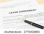 lease agreement with pen ... | Shutterstock . vector #277642883