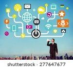 connecting internet online... | Shutterstock . vector #277647677