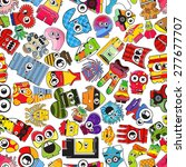 monsters   seamless pattern.... | Shutterstock .eps vector #277677707