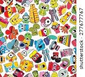 monsters   seamless pattern.... | Shutterstock .eps vector #277677767