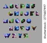 abstract polygonal letter in... | Shutterstock .eps vector #277687997