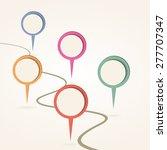 infographic design template.... | Shutterstock . vector #277707347