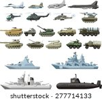 set of the military combat... | Shutterstock .eps vector #277714133
