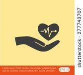 cardiogram vector icon | Shutterstock .eps vector #277743707