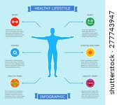 healthy lifestyle infographic... | Shutterstock .eps vector #277743947