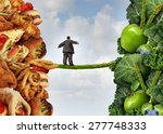 diet change healthy lifestyle... | Shutterstock . vector #277748333