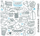 laundry themed doodle set.... | Shutterstock .eps vector #277753463