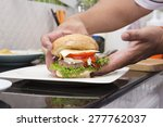 chef cooking and decorated... | Shutterstock . vector #277762037