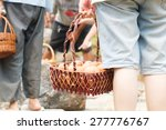 hand carry boiled eggs outdoor | Shutterstock . vector #277776767