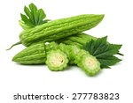 bitter melon isolated on white... | Shutterstock . vector #277783823