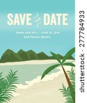 save the date invitation with... | Shutterstock .eps vector #277784933