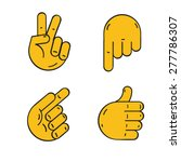 different hands  cartoon style  ...   Shutterstock .eps vector #277786307