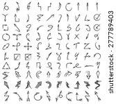 hand drawn arrows | Shutterstock .eps vector #277789403