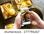 taking photo of food with... | Shutterstock . vector #277796267