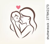 mother and son stylized vector... | Shutterstock .eps vector #277842173