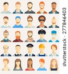 set of avatar icons. vector... | Shutterstock .eps vector #277846403