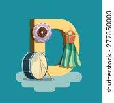 d   children learning alphabet... | Shutterstock .eps vector #277850003