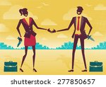 great illustration of two... | Shutterstock .eps vector #277850657