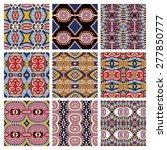 set of different seamless... | Shutterstock . vector #277850777