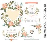 floral wreath elements   Shutterstock .eps vector #277860713