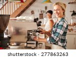 cafe staff at work | Shutterstock . vector #277863263