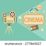 cinema concept in retro style.... | Shutterstock .eps vector #277865027