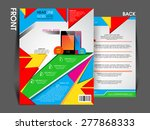 flyer brochure magazine cover... | Shutterstock .eps vector #277868333