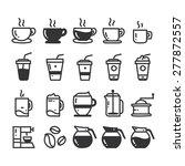 coffee doodle icons | Shutterstock .eps vector #277872557