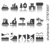 terrain  locality icon. vector... | Shutterstock .eps vector #277873007