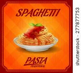 spaghetti orange   Shutterstock .eps vector #277877753