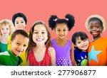 diversity children friendship... | Shutterstock . vector #277906877