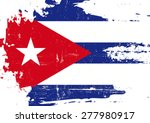 scratched cuban flag. a cuban... | Shutterstock .eps vector #277980917