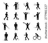 sport icons set illustration   Shutterstock .eps vector #277981127