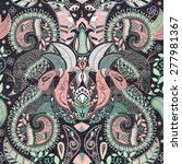 colorful paisley seamless... | Shutterstock .eps vector #277981367