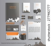 corporate identity template for ... | Shutterstock .eps vector #277982777