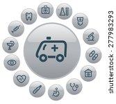 medical button set | Shutterstock .eps vector #277983293