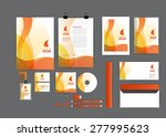 orange with curve graphic... | Shutterstock .eps vector #277995623