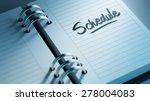 closeup of a personal agenda... | Shutterstock . vector #278004083