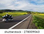 motorcycle traveling along an... | Shutterstock . vector #278009063