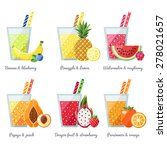 fruit smoothie  juice  vector... | Shutterstock .eps vector #278021657