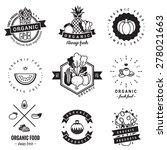 organic food logo vintage... | Shutterstock .eps vector #278021663