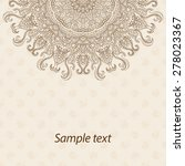 card  invitation or menu in... | Shutterstock .eps vector #278023367