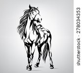 silhouette of a horse | Shutterstock .eps vector #278034353