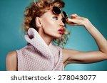 closeup portrait of beautiful... | Shutterstock . vector #278043077
