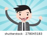 happy with tgif in vector style ... | Shutterstock .eps vector #278045183