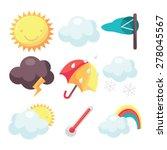 a cartoon vector illustration... | Shutterstock .eps vector #278045567