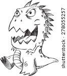 doodle sketch monster vector... | Shutterstock .eps vector #278055257