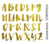 gold alphabet. modern...   Shutterstock . vector #278059313
