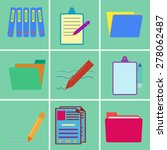 office supplies icons set | Shutterstock .eps vector #278062487